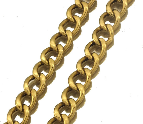 Pulseira Masculina Elo Gourmet Em Ouro 18k 22cm 8,2gr J22020