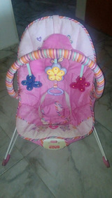 Silla Mecedora Y Vibradora Fisher Price Color Rosa