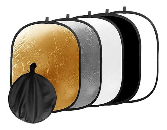 Rebatedor Oval 5 Em 1 - 120 X 90cm Refletor Fotográfico Dslr
