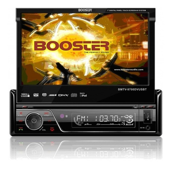 Dvd Player Retratil Booster Bmtv-9700dvusbt Tela 7 Touch
