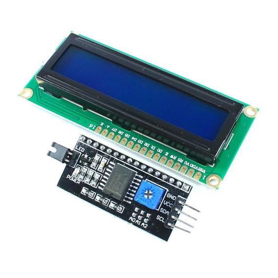 Display Lcd 16x2 1602 Fundo Azul Com Modulo I2c