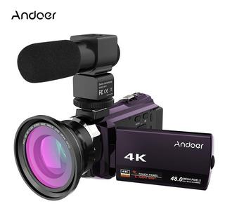 Cámara De Video Digital Wifi Andoer 4k 1080p 48mp Con