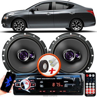 Som Carro Radio Mp3 + 2 Alto Falante Pioneer T 6