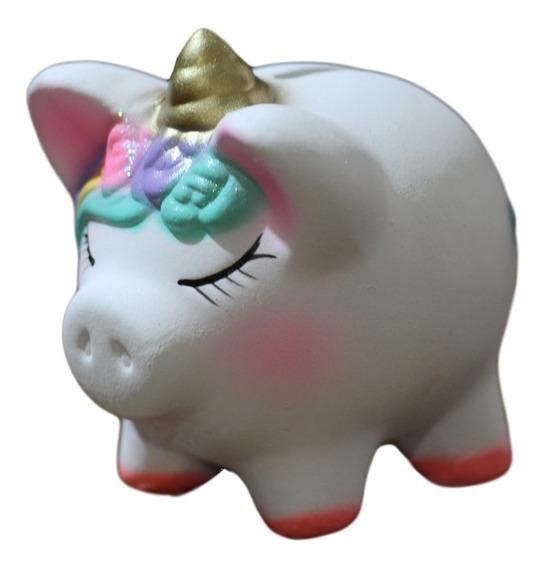 Recuerdo Baby Shower Cerdito Unicornio Alcancia Marranito