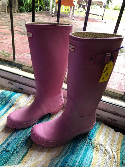 Hunter Botas Lluvia Originales Rosa