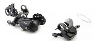 Kit Set De Cambios Mtb Wkns Shifter 10v + Cambio Trasero 10v