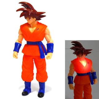 Figura Goku Dragon Ball Super Sayayin Dios Red Luz Led 25cm