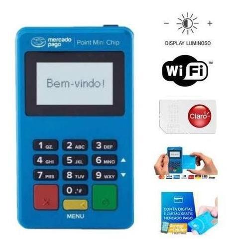Máquina Point Mini Chip Aceita Cartão Débito Crédito Voucher