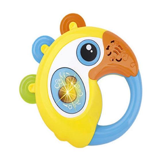 Brinquedo Para Bebê Com Luz E Som Papagaio Amiguinho, Buba