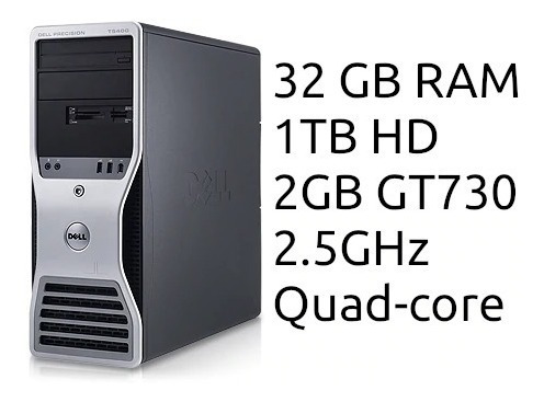 Computador Quad-core Dell T5400 Customizado Completo