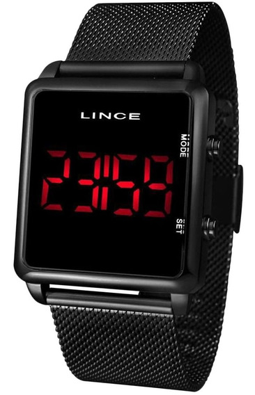 Relógio Lince Unisex Digital Led Preto Mdn4596l Pxpx