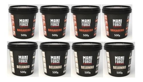Kit 8 Pasta De Amendoim Maniforce 500g Atacado Renda Extra