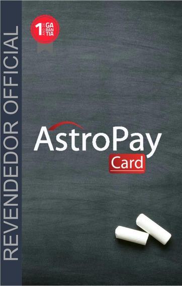 Cartao Astropay-- Usd - Oficial Revend. Peca O Seu Agora!!!!