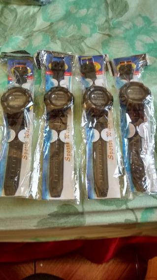 Relógio Sport Kit Com 4 Barato