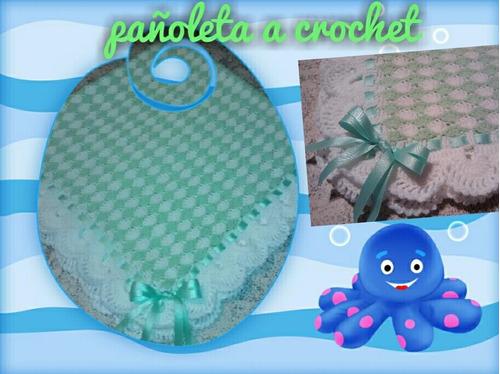 Pañoleta A Crochet, Medidas Y Modelos A Elección