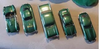 Bel Air Cobra Vw Jaguar Mercedes - 5 Minis Clássicas 1:43