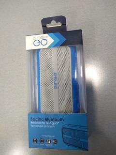 Bocina Bluetooth Antichock Ginga Go Techzone Azul