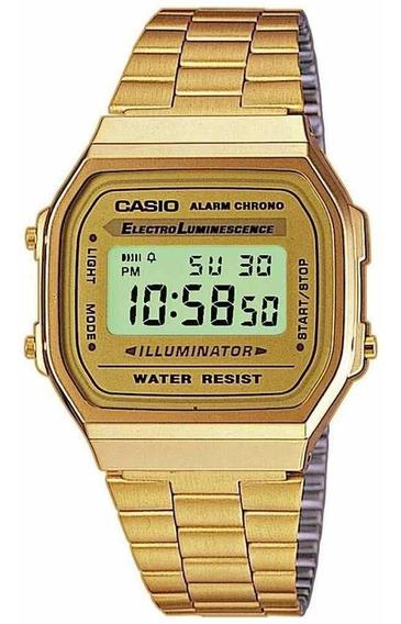 Reloj Casio Original Dorado A168wg Importado