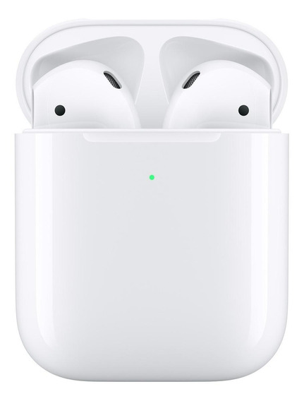 Audífonos inalámbricos Apple Airpods with Wireless Charging Case (2nd Generation) blanco