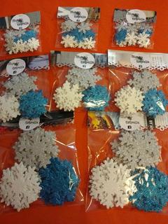 Copos De Nieve Frozen X30u 2,5 Cm Candy Cumpleaños Almagro