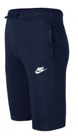 Bermuda Moletom Nike Jersey Club Reta Masculina 804419 + Nf
