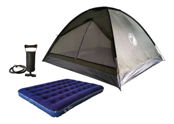 Carpa Iglu Camping 4 Personas + Colchon Inflable - Rex