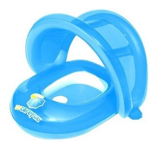 Flotador Inflable Bestway Bebé Con Toldo + Protección Uv