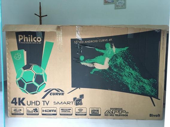 Televisão Philco 55 4k Smart Tela Curva