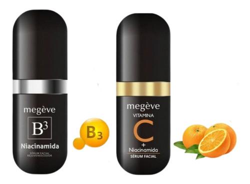 Imagem 1 de 5 de Kit Serum Facial Anti Idade Rejuvenescedor Vitama C E B3