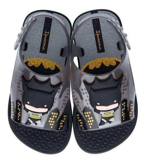Sandália Infantil Liga Da Justiça Batman Preto Ipanema C C+