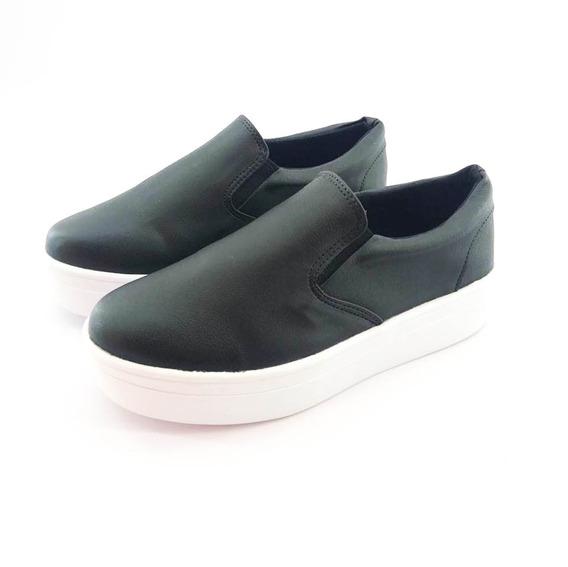 Tênis Quality Shoes Flatform Feminino 009 Preto