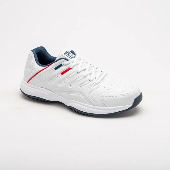 Zapatilla Fila Lugano 6.0 Tenis Hombre Blanco/marino/rojo