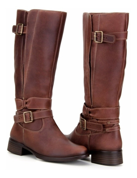 Bota Feminina Montaria Country Couro Rustico Capelli Boots