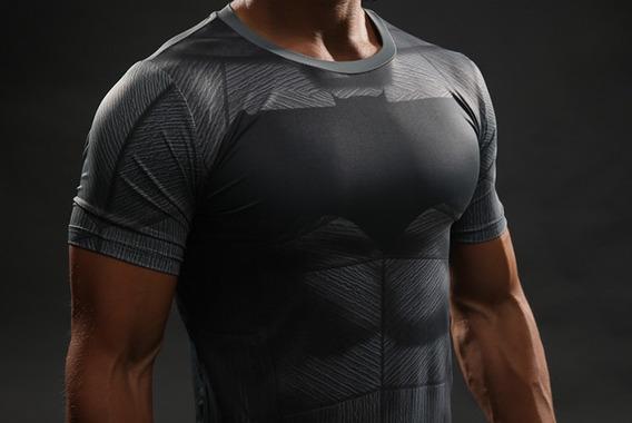 Camiseta Compressao Avenger Batman Liga Justiça Uv Dryfit 3d