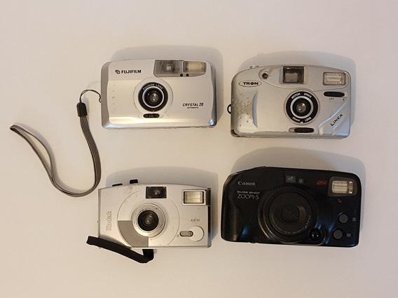 Lote Câmera Fotográfica Antiga Compacta Filme Canon