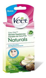 Veet - Bandas Depilatorias Faciales Naturals X 20u