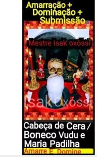 Amarração Amorosa+ Submissão+ Dominação+ Bonecos Vudu+cabeça