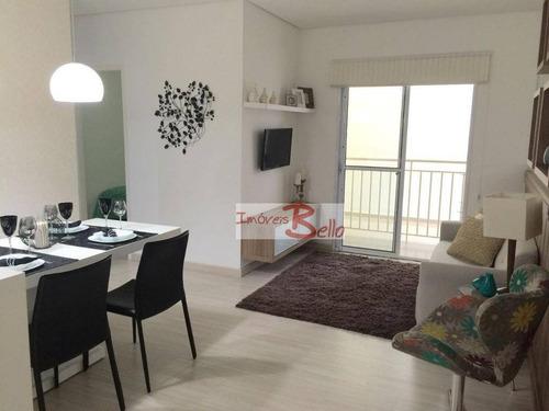 Apartamento Com 2 Dormitórios À Venda, 57 M² Por R$ 195.000,00 - Mirante De Itatiba Iii - Itatiba/sp - Ap0498