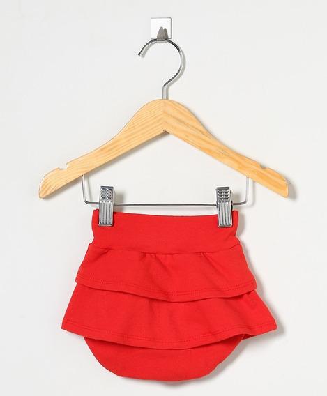 Shorts Saia Bebê Menina (tapa Fraldas)