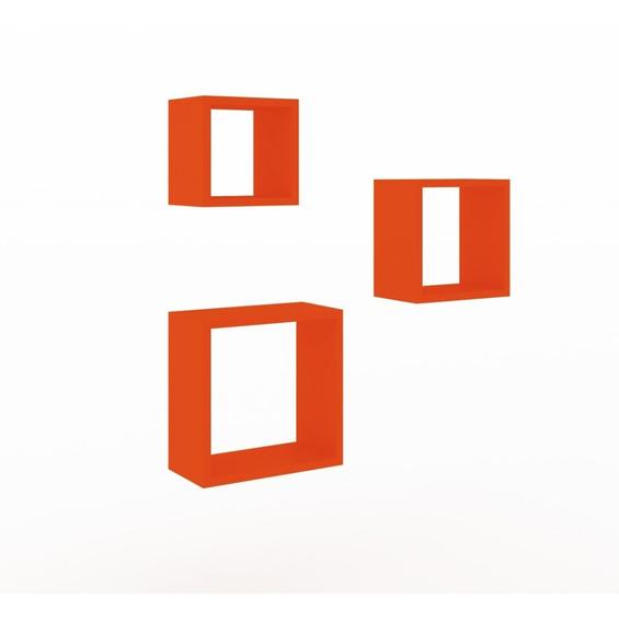 Repisas Minimalista Cubo Naranja Decoracion Moderno Salas