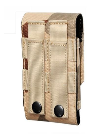 Funda Porta Celular Diseño Militar Nylon Cordura Molle