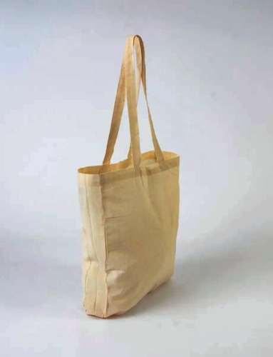 Bolsa Algodón Lienzo Para Estampar 41x37x8cm