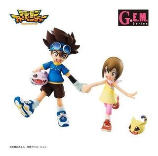 Gem Taichi & Hikari & Koromon & Nyaromon- Digimon