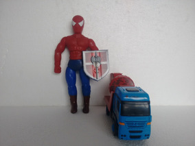 Kit Boneco Justiceiro Ou Red Hero + Betoneira Transformers