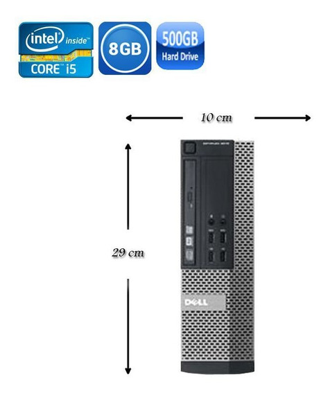 Pc Dell Sff 7020 Intel I5 4°geração 8gb Hd 500gb - Wi-fi