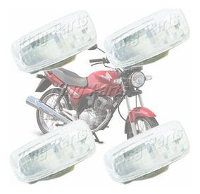 Jogo Lente Seta Pisca Cristal Paramotos Honda Titan 125 150