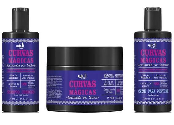 Widi Care Curvas Magicas Shampoo, Mascara, Creme Pentear