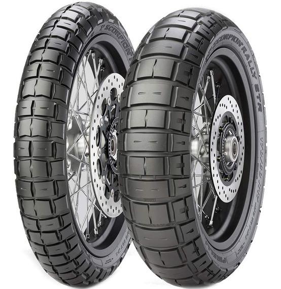 Par Pneu Nc 750x Cb 500 X 170/60r17 + 120/70r17 Scorpion Rally Str Pirelli