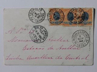 Postal Suiça Circ. Petropolis - Rio 1904