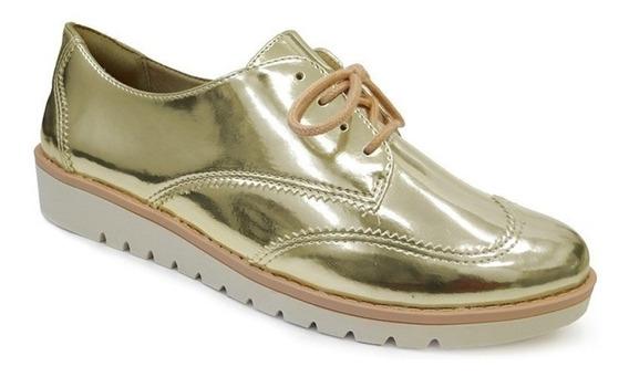 Sapato Oxford Casual 1690202 - Ramarim (43) - Ouro Laminado